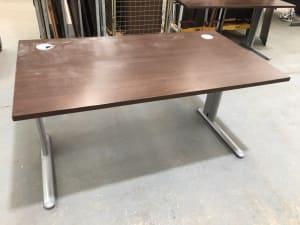 Desk 140cm dark walnut