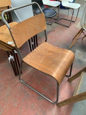 Vintage cafe sled feet chair