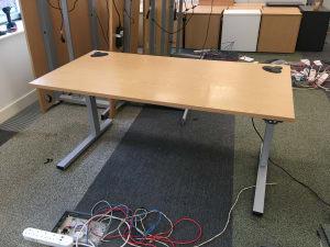 Height adjustable electric desk 160cm