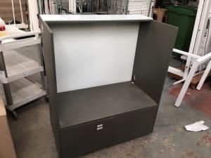 Desk end cabinet