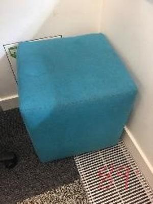 Cushioned cube stool