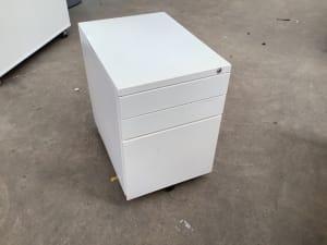 White metal Pedestal storage unit