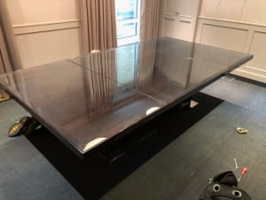 Board room table with glass top