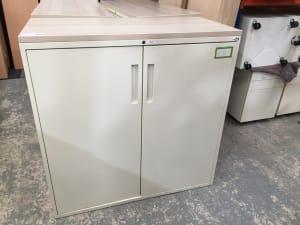 Metal Cabinet wood top