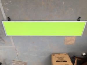 Bright green desk dividers