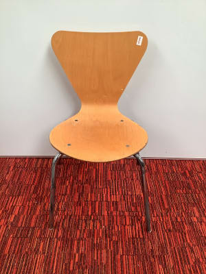 Visitor Centre- wooden cafe chair