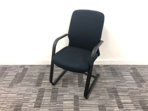 Haworth Comforto meeting chair Blue Check - not stacking