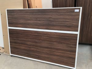 End of desk privacy screen