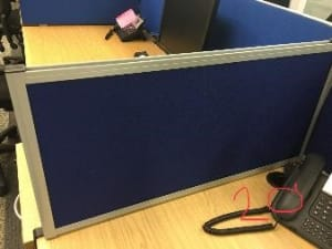 Desk divider for side of desk