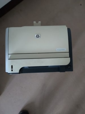white HP 2055 multifunction printer