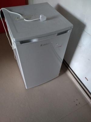 mini grey beverage fridge