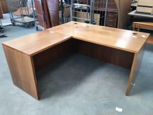 Desk, with left hand return