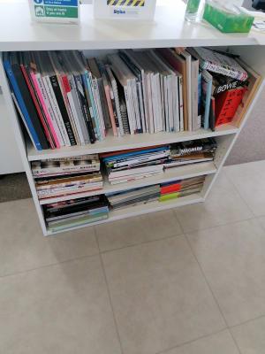 Small white book case