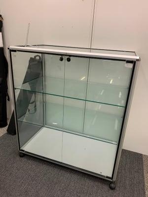 Glass Display Cabinet on castors