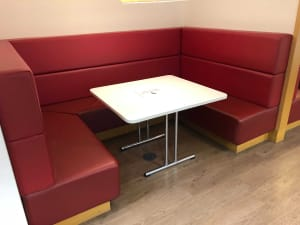 Fitted leather booth seating - complete set