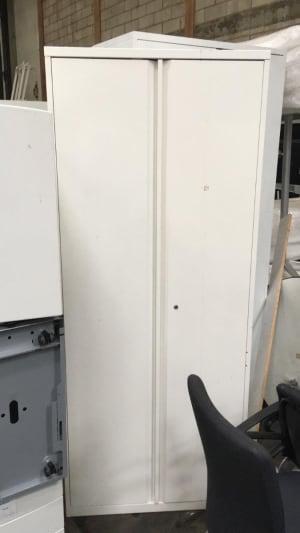 White metal cabinet - no shelves