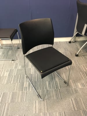 VERCO Chair with padded seat - worn corners