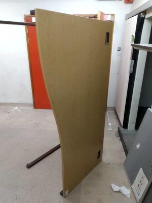 rectangular brown wooden computer desk 180cm