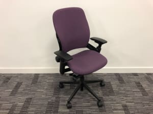 Steelcase Leap Operator task chair Purple