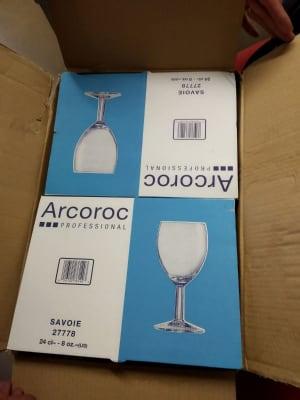 48 wine glasses