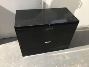 Metal 2 drawer cabinet