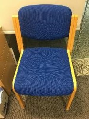 Upholstered waiting room chair