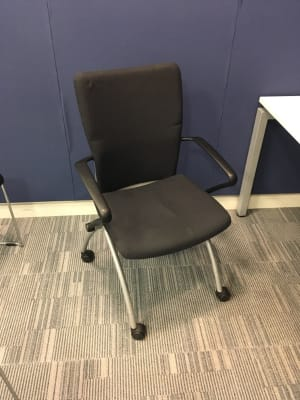Folding chair on wheels