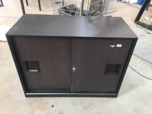 Designer storage cabinet metal frame - No Lock Barell