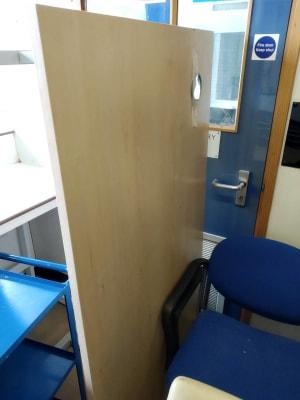 Office desk 160cm in beech finish