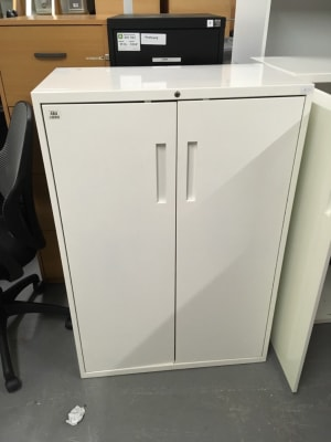 White metal Bisley style cabinet