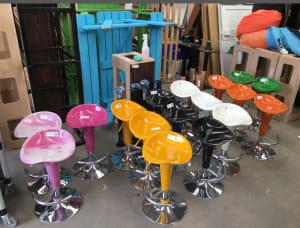 Bar stool 2 tone pink