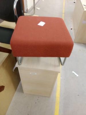 orange foot stool