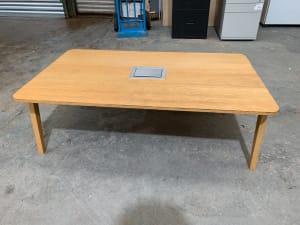 Coffee table with plug socket