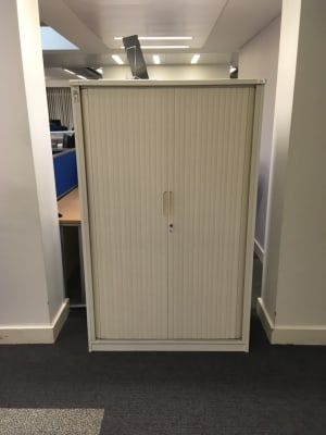 Medium height tambour cabinet
