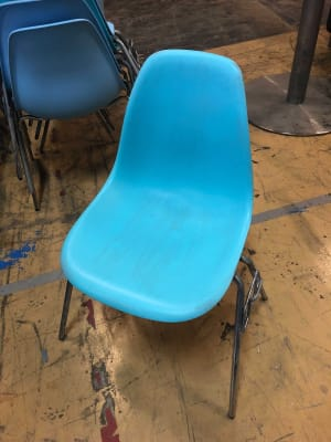 Common Area - chair light green turquoise