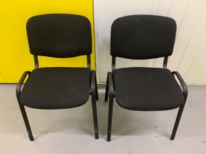 Stackable black waiting room chairs