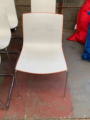 Verco waiting room chair with orange trim
