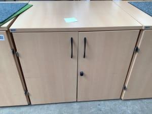 Cabinet black handle single shelf