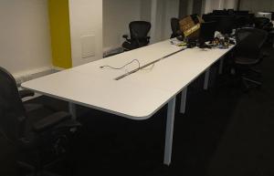 Cubewing Matrix bench desk - bank of 10