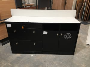 Double cabinet with recycling station