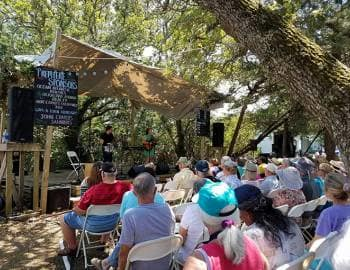 Ocracoke Island Realty Photo of the Live Oak Stage at the 2017 Ocrafolk Festival