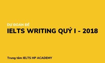 DỰ ĐOÁN ĐỀ WRITING IELTS QUÝ 1 NĂM 2018 TỪ HP ACADEMY