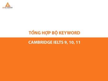 BỘ TÀI LIỆU TỰ VỰNG KEYWORD SÁCH CAMBRIDGE 9,10,11