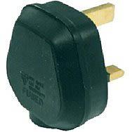 13 Amp Fused Black Tough Plug