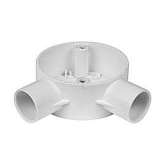 20mm Conduit White PVC Angle Box