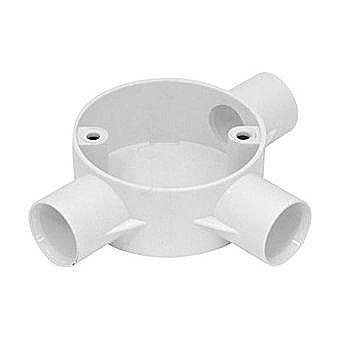 20mm Conduit White PVC Tee Box