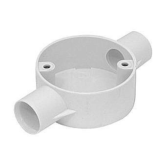 20mm White PVC Conduit Through Box