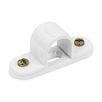 20mm White Spacer Bar Saddle Clip