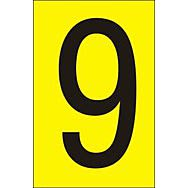 50mm Yellow Vinyl - Character '9'   (Pack of 10)