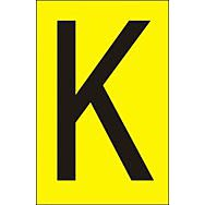 50mm Yellow Vinyl - Character 'K'   (Pack of 10)